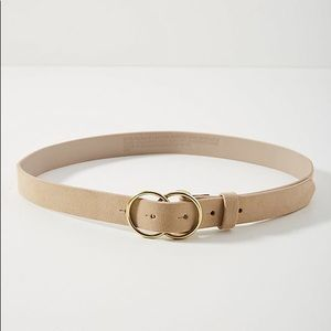 NWT Anthropologie Creme Double-Ringed Belt